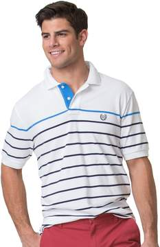 Chaps Big & Tall Classic-Fit Striped Stretch Pique Polo