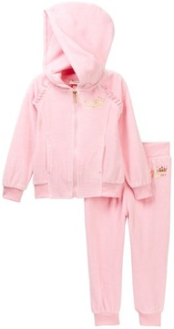 Juicy Couture Light Pink Velour Hoodie & Pant Set (Baby Girls)