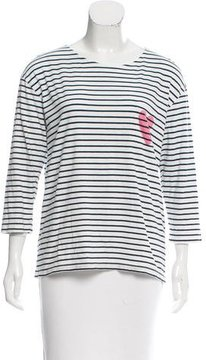 Chinti and Parker Striped Heart Top
