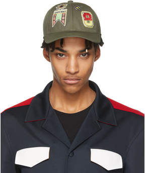 Valentino Khaki Garavani Embroidered Cap