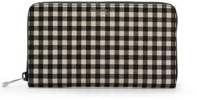 Henri Bendel West 57Th Gingham Zip Around Continental Wallet