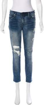 RtA Denim Mid-Rise Cropped Jeans