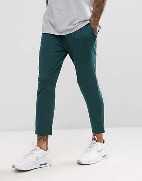 Asos Skinny Cropped Joggers in Poly Tricot