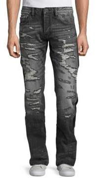 Cult of Individuality Rebel Straight-Cut Distressed Jeans