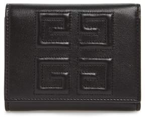 Givenchy Emblem Lambskin Leather Trifold Wallet