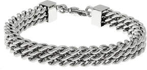 JCPenney FINE JEWELRY Mens Stainless Steel Multi-Row Chain Bracelet