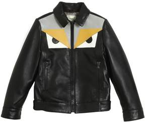 Fendi Monster Smooth Nappa Leather Jacket