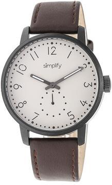 Simplify The 3400 Collection SIM3405 Gunmetal Analog Watch