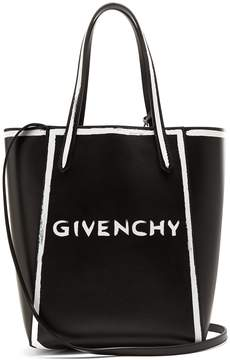 Givenchy Stargate logo-print leather tote bag