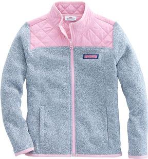 Vineyard Vines Girls Sweater Fleece Full Zip