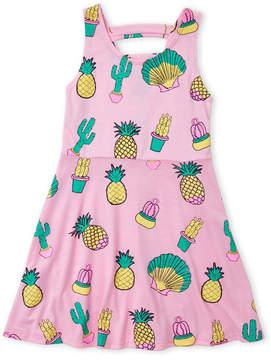 Flowers by Zoe Girls 4-6x) Cactus Print Skater Dress