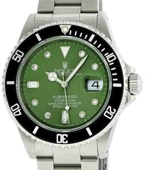 Rolex Submariner Stainless Steel Green Diamond 40mm Watch