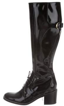 Louis Vuitton Patent Leather Knee-High Boots w/ Tags