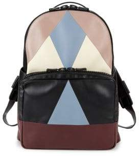 Valentino Multicolored Geometric Leather Backpack