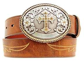 Ariat A1512202-XL 1.5 in. Womens Cross Buckle Western Belt, Brown - Extra Large