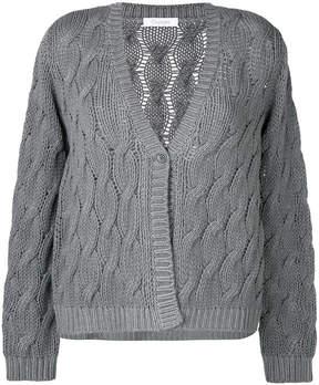 Cruciani cable knit cardigan