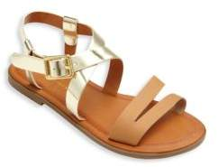 Ralph Lauren Kid's Metallic Cross Strap Sandals