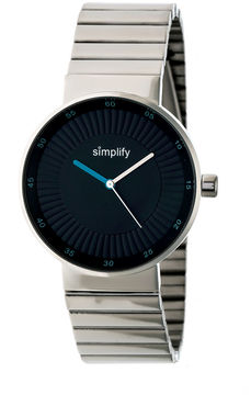 Simplify The 4600 Unisex Silver Tone Bracelet Watch-Sim4602