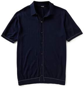 Murano Solid Short-Sleeve Woven Shirt