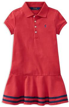 Polo Ralph Lauren Girls' Drop-Waist Polo Dress - Little Kid