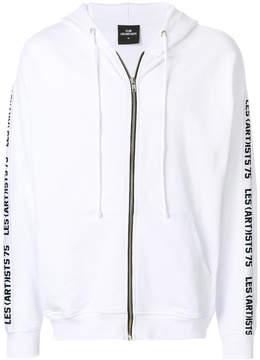 Les (Art)ists zipped printed hoodie