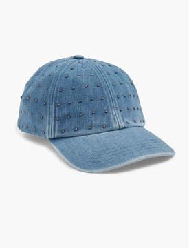 Lucky Brand STUDDED DENIM BASEBALL HAT
