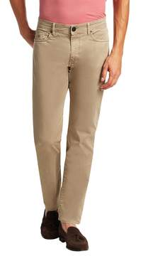 Luciano Barbera Men's Solid Cotton Stretch Trousers