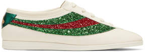 Gucci Off-White Glitter Falacer Sneakers