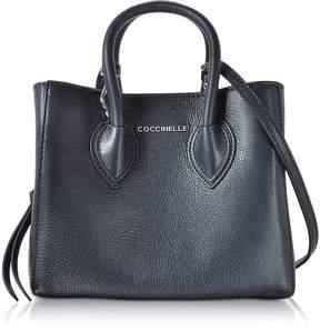 Coccinelle Farisa Blue Pebbled Leather Mini Tote Bag
