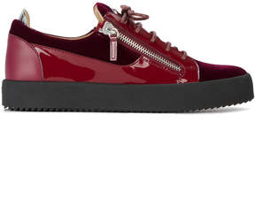 Giuseppe Zanotti Design Burgundy Frankie sneakers