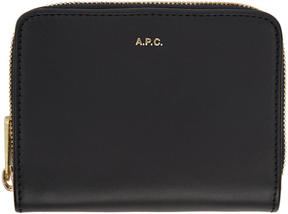 A.P.C. Navy Compact Zipped Wallet
