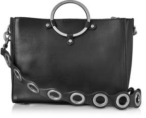 Rebecca Minkoff Black Leather Ring Satchel Bag - ONE COLOR - STYLE
