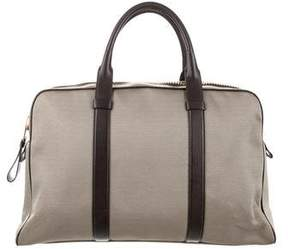 Tom Ford Buckley Canvas Flat Trapeze Briefcase