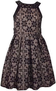 Bonnie Jean Girls 7-16 Bonded Lace Waistline Dress
