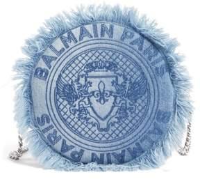 Balmain Renaissance Denim Crossbody Bag