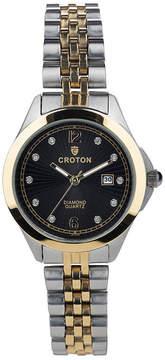 Croton N/A Mens Black Bracelet Watch-Cx328043bsbk