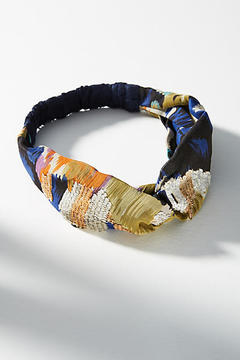 Anthropologie Sequined Watercolor Headband