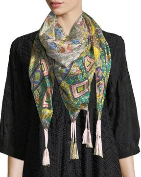 Johnny Was Indiano Silk Georgette Scarf