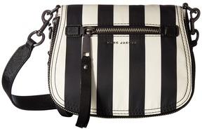Marc Jacobs Stripes Printed Trooper Small Nomad Handbags - BLACK MULTI - STYLE
