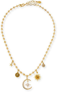 Sequin Celestial Five-Charm Necklace