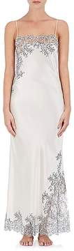 Carine Gilson Women's Lace-Trimmed Silk Gown