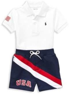 Ralph Lauren Boy's Polo Shirt& Shorts Set
