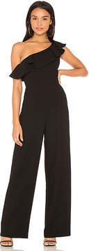 BCBGeneration One Shoulder Ruffle Jumpsuit