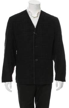 Damir Doma Leather-Trimmed Fil Coupé Jacket w/ Tags