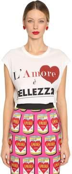 Dolce & Gabbana Printed Cotton Jersey Sleeveless T-Shirt