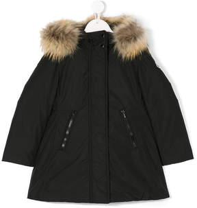 Moncler fur collar coat
