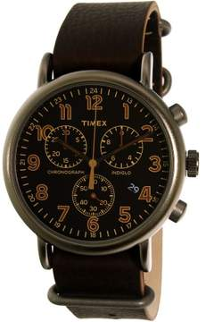 Timex Men's Weekender TW2P85400 Brown Leather Quartz Dress Watch