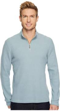 Agave Denim Wave Train Long Sleeve 1/4 Zip Seer Sucker Men's Clothing