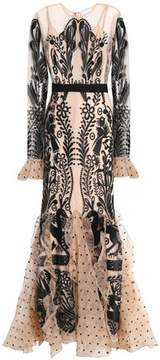 Alice McCall Look At Me Organza-Paneled Embroidered Tulle Maxi Dress