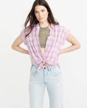 Abercrombie & Fitch Tie-Front Button-Up Shirt